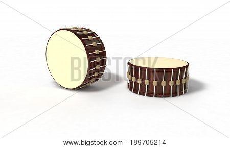 Ramazan drums on background, 3d render working