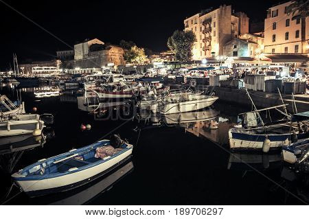 Fishing Boats Moored In Old Port Of Ajaccio