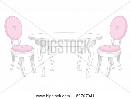 Dining set. Dining table and chairs isolated on white
