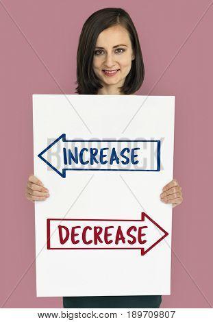 Increase decrease opposite arrows banner