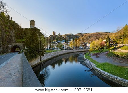 Village Esch sur Sure in Luxembourg - travel background
