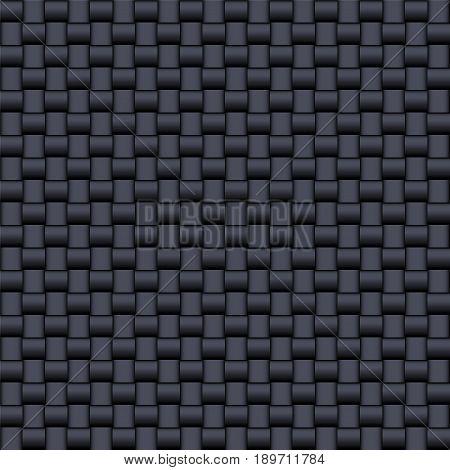 Fiberglass composite black texture seamless pattern. Technology background. Vector illustration.