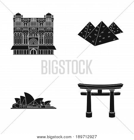 Building, interesting, place, palace .Countries country set collection icons in black style vector symbol stock illustration .