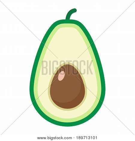 Avocado flat icon, fruit and tropical, vector graphics, a colorful solid pattern on a white background, eps 10.