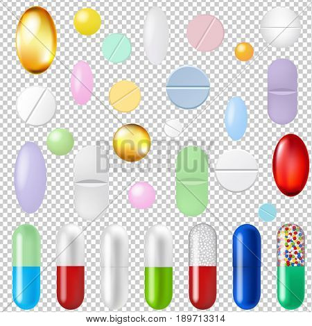 Pills Set Transparent Background