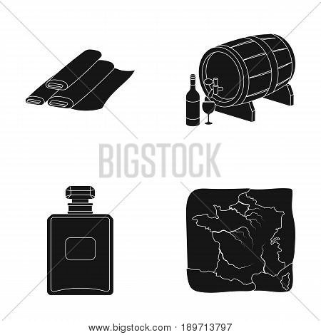 France, country, nation, national .France country set collection icons in black style vector symbol stock illustration .