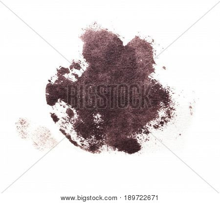 of iodine stain on a white background