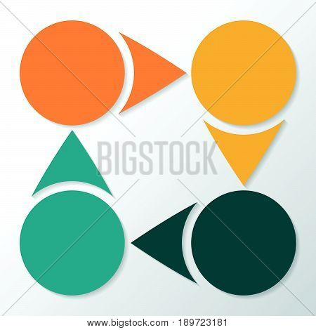 Infographic 4 Parts, Pieces, Sections, Options Or Steps. Vector Template.