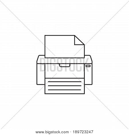 Fax line icon, printer, electronic device, social media, vector graphics, a colorful linear pattern on a white background, eps 10.