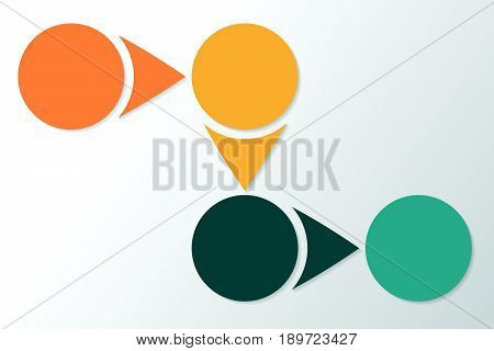 Infographic 4 Parts, Pieces, Sections, Options Or Steps. Colorful Vector Template.