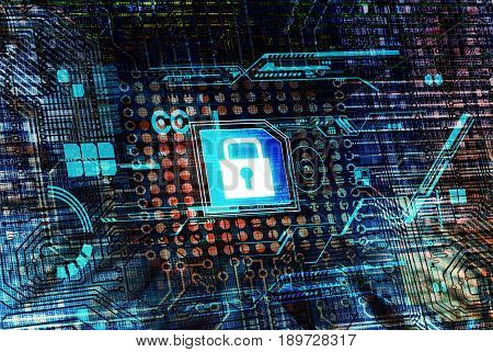 Secure data processing concept with motherboard and virtual processor.