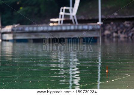 Early morning fishing on Smith Mountain Lake in Virginia