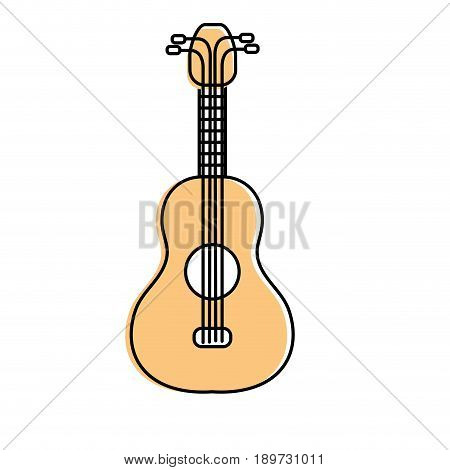acoustic guitar instrument to play vector illustration