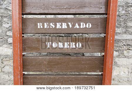 Door For Bullfighters