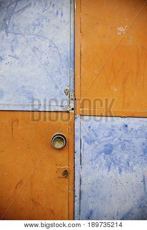 Closed Door Orange And Blue