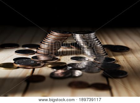 Saving Money And Account Banking Finance, Bankruptcy Concept
