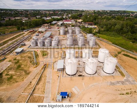 These tanks are used for storage and distribution of petroleum products