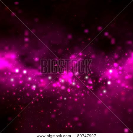 Space vector background with stars. Universe illustration. Colored cosmos backdrop with stars claster. Deep space colors with cosmos clouds