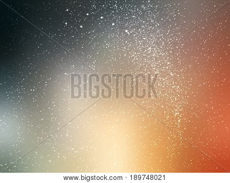 Space vector background with stars. Universe illustration. Colored cosmos backdrop with stars claster. Brown and black colors.