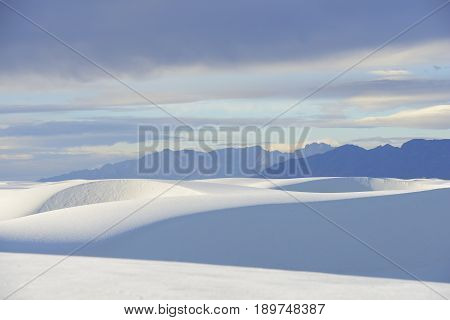 White Sands and Clouds at Sunrise - New Mexico