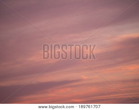 purple sky with clouds at sundown in springtime