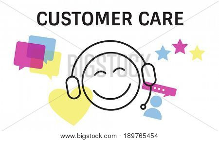 Illustration of contact us online customer services
