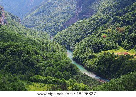 Tara Gorges in Muntenegro, Europe