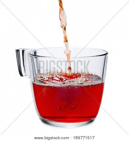 Pouring Black Tea Isolated
