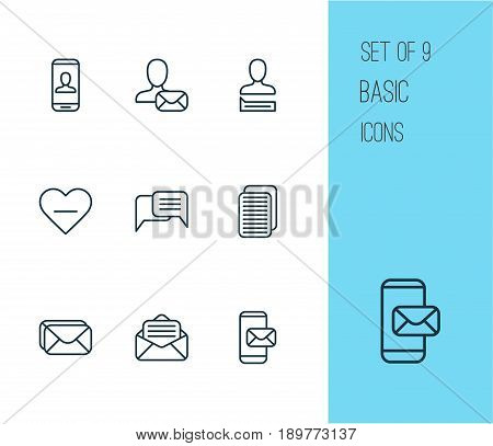 Social Icons Set. Collection Of Internet Site, Unfollow Icon, Privacy Information And Other Elements. Also Includes Symbols Such As Chatting, Info, Delete.