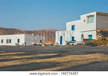Pozo Negro, Small Fishing Village On Fuerteventura, Canary Island, Spain