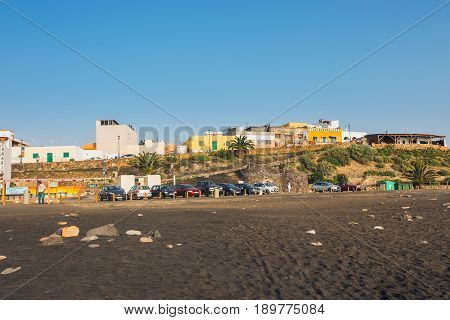Ajuy, Fuerteventura, Spain, April 01, 2017: Small Fishing Village Ajuy On Fuerteventura Island, Spai