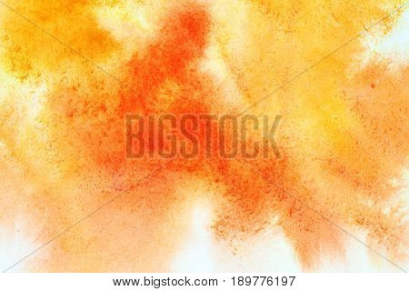 Yellow-orange abstract watercolor texture