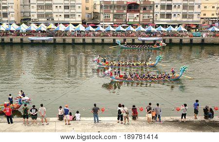 The Dragon Boat Races In Taiwan
