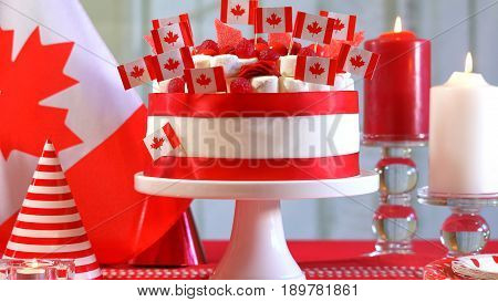 Canada Day National Holiday Celebration Party Table