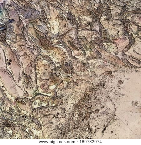 Dry Martian Riverbed Basin Texture