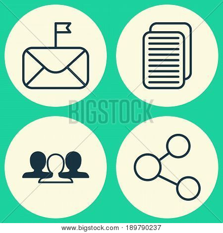 Social Icons Set. Collection Of Group, Publication, Internet Site And Other Elements. Also Includes Symbols Such As Group, Publish, Significant.
