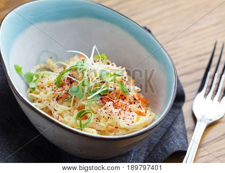 Spring diet cabbage salad (coleslaw). Healthy fitness food concept.