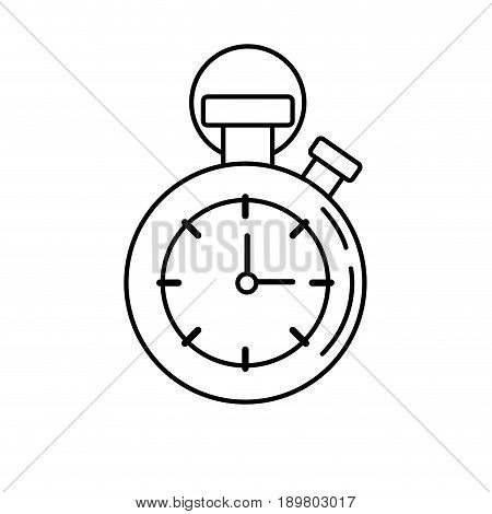 line chronometer to know and meter the time vector illustration