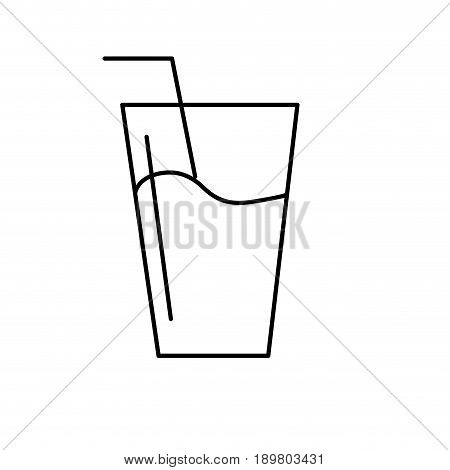 line water glass to freshness and healthylife vector illustration