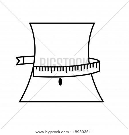 line weist with measuring and reduce size vector illustration