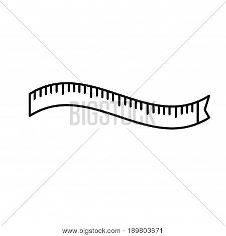 line measuring meter to size the body vector illustration