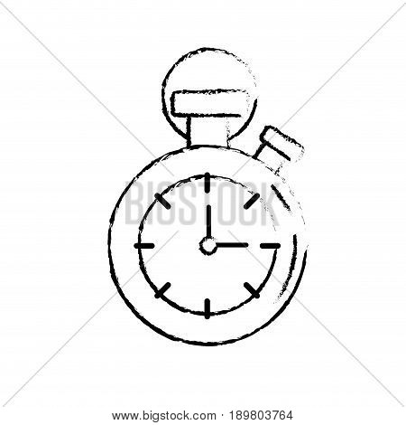 figure chronometer to know and meter the time vector illustration