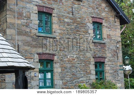 Beautiful stone house restaurant Cafe in the city of Essen district Kupferdreh. Ferryhouse Red Mill