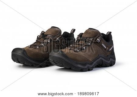 working boots Isolated on white background
