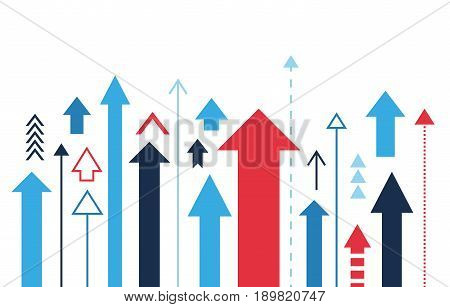 Arrows up isolated, many different styles, illustration vector