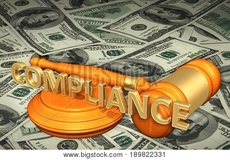 Compliance Law Concept 3D Illustration