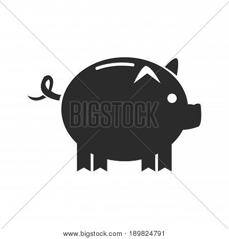 cartoon piggy money security bank icon vector illustration