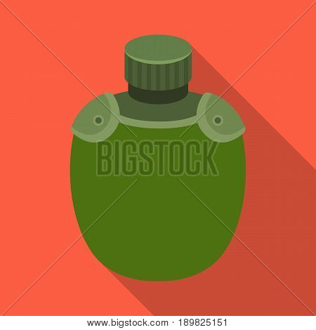 Jar with water in the case.African safari single icon in flat style vector symbol stock illustration .