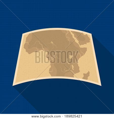 Map of mainland Africa.African safari single icon in flat style vector symbol stock illustration .