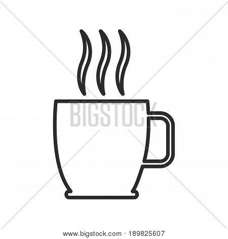 cup of hot drink coffee tea aroma liquid vector illustration